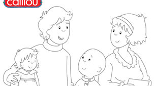 Coloring - Caillou 4