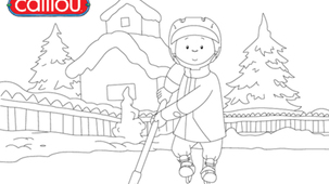 Coloring - Caillou 6
