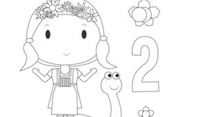 Coloring - Fleurette 2