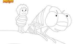 Coloriage - Maya l'abeille 3