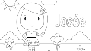 Coloriage - Josée
