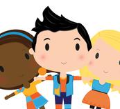 Personnage Louis, Josée et Lexie.