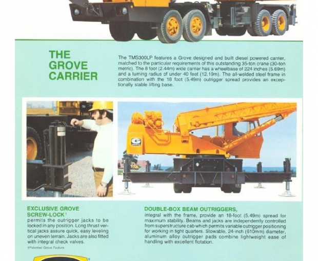 1974 Grove TMS300LP(see specs attached) 9