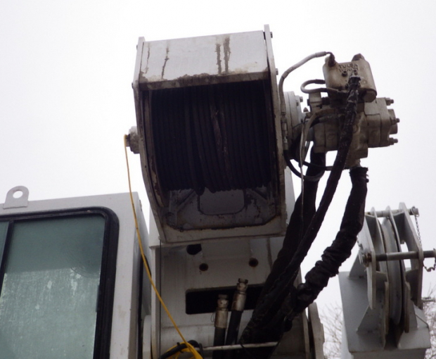 2006 Altec A)38-127 Boom Truck on a 2006 Freightliner M2  45