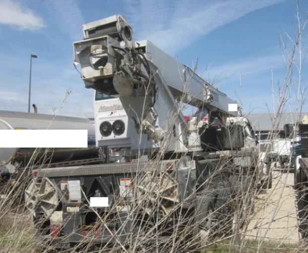 Manitex TC50155H Crane Mounted On 2018 Peterbilt 567 36