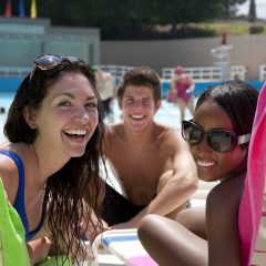 Relax with Friends and Family poolside at WildWaves