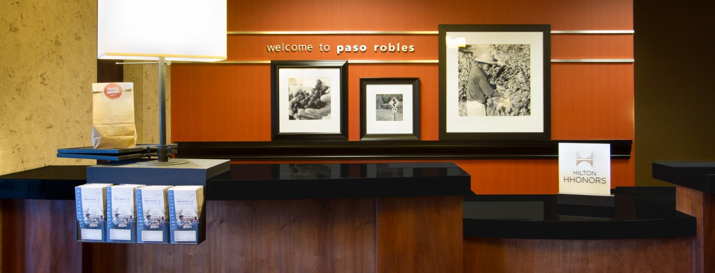 Front Desk at Hampton Inn Paso Robles