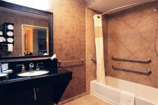 In-room Bathroom at Hampton Inn Paso Robles