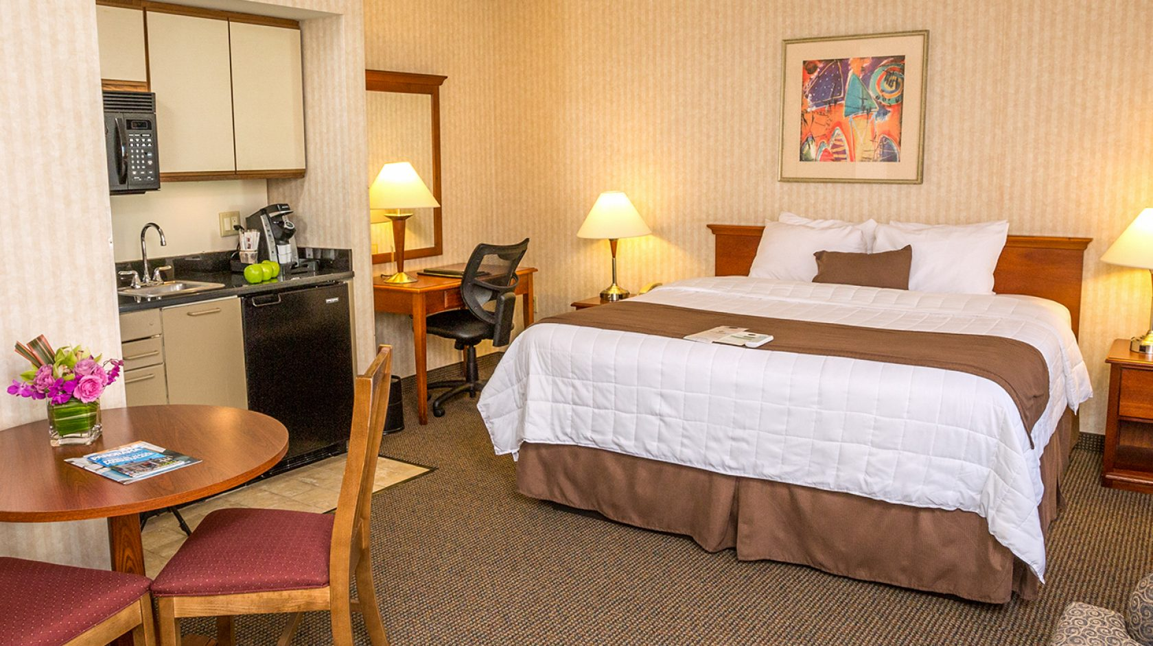 studio suite at the inn at longwood medical