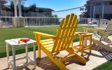 Cute lawn chairs at huge play deck Pismo Lighthouse Suties