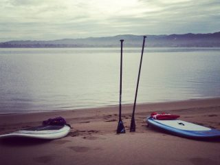 Fun stand up paddle boarding Pismo Beach