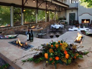 Paso Robles Inn Steakhouse romantic dining outdoor patio