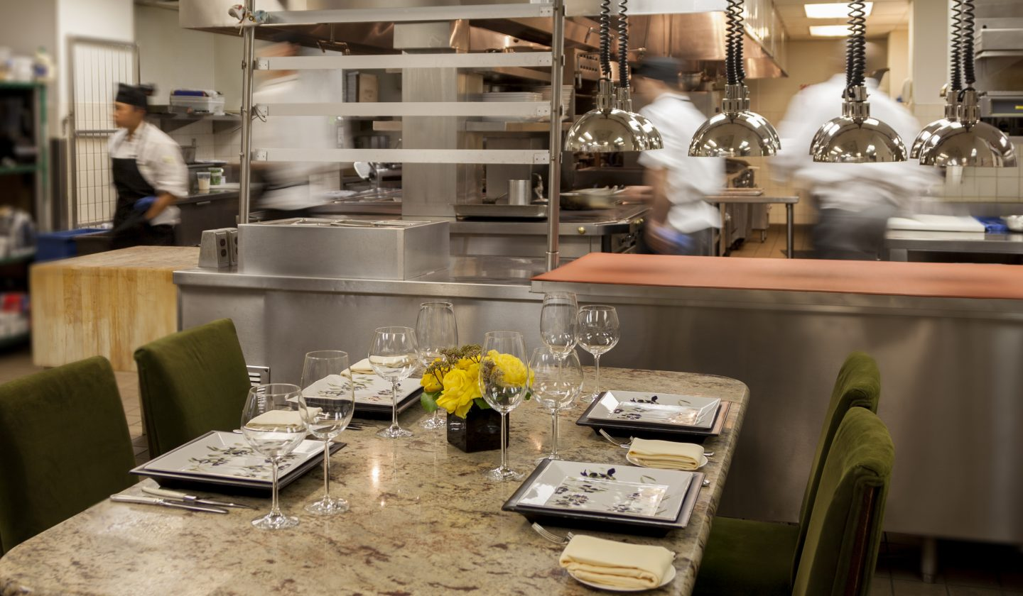 private dining in the kitchen of The Rittenhouse Hotel in philly