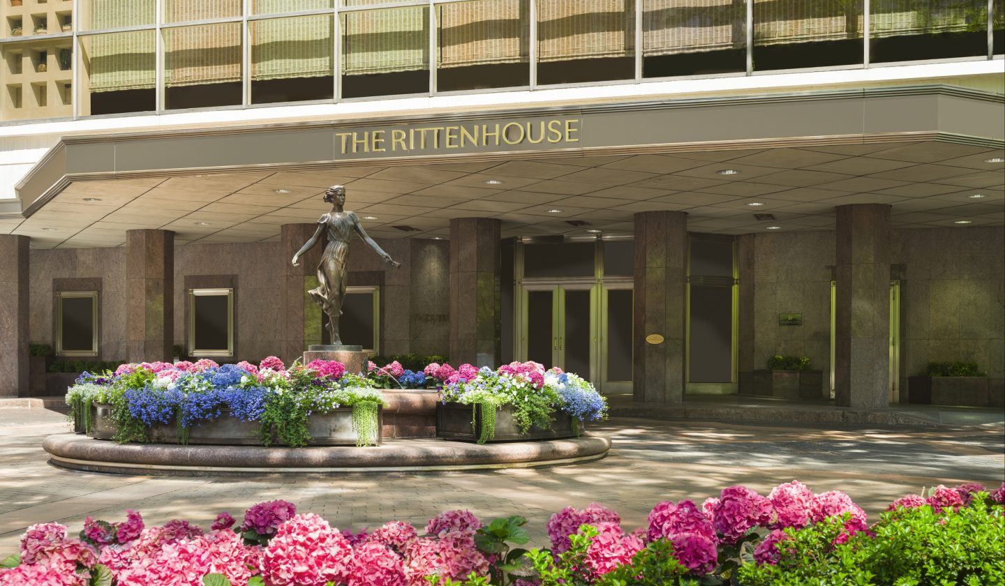 exterior view of The Rittenhouse in Philly
