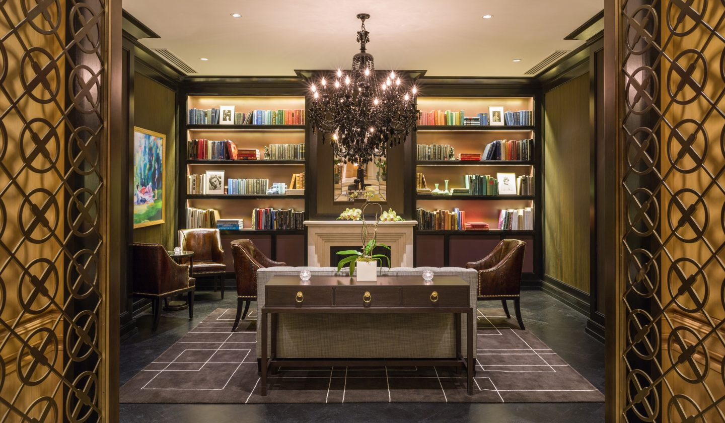 library at the Rittenhouse Hotel