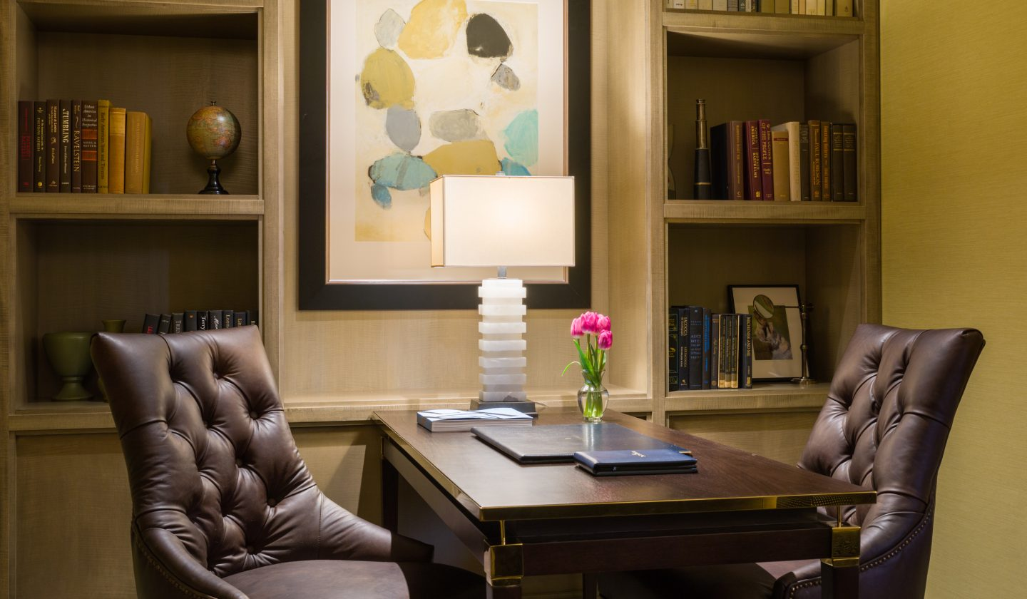 business desk at the rittenhouse hotel