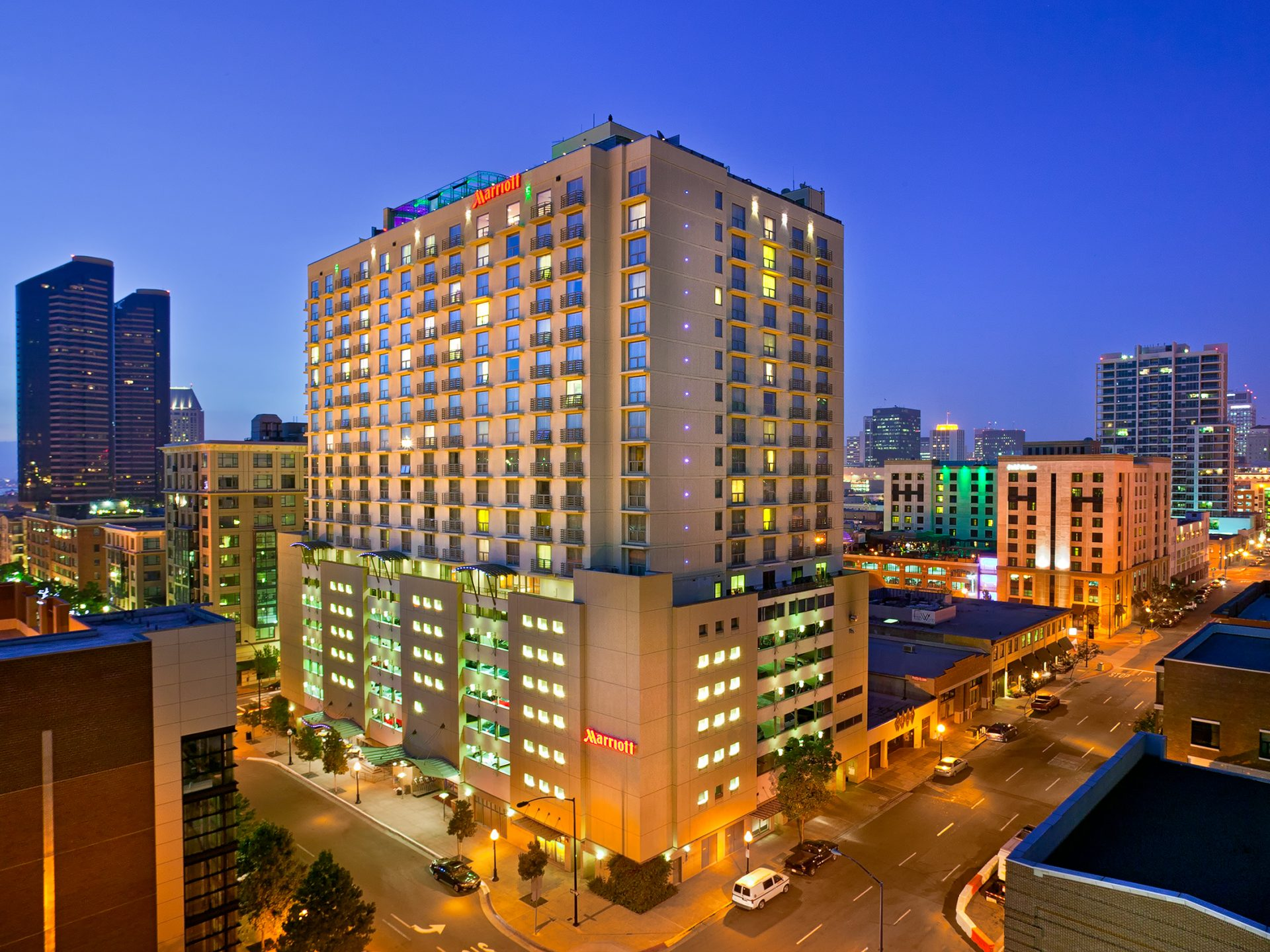 Exterior of San Diego Marriott Gaslamp Quarter