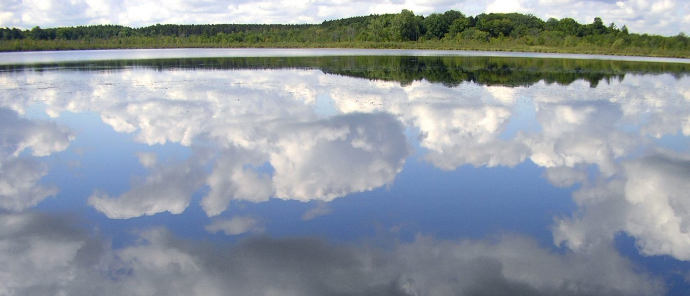 reflection of clouds on water