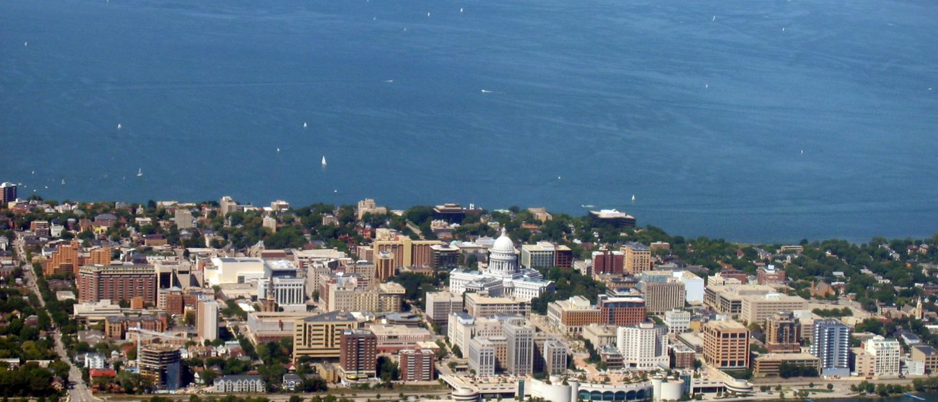 Aerial view of wisconsin