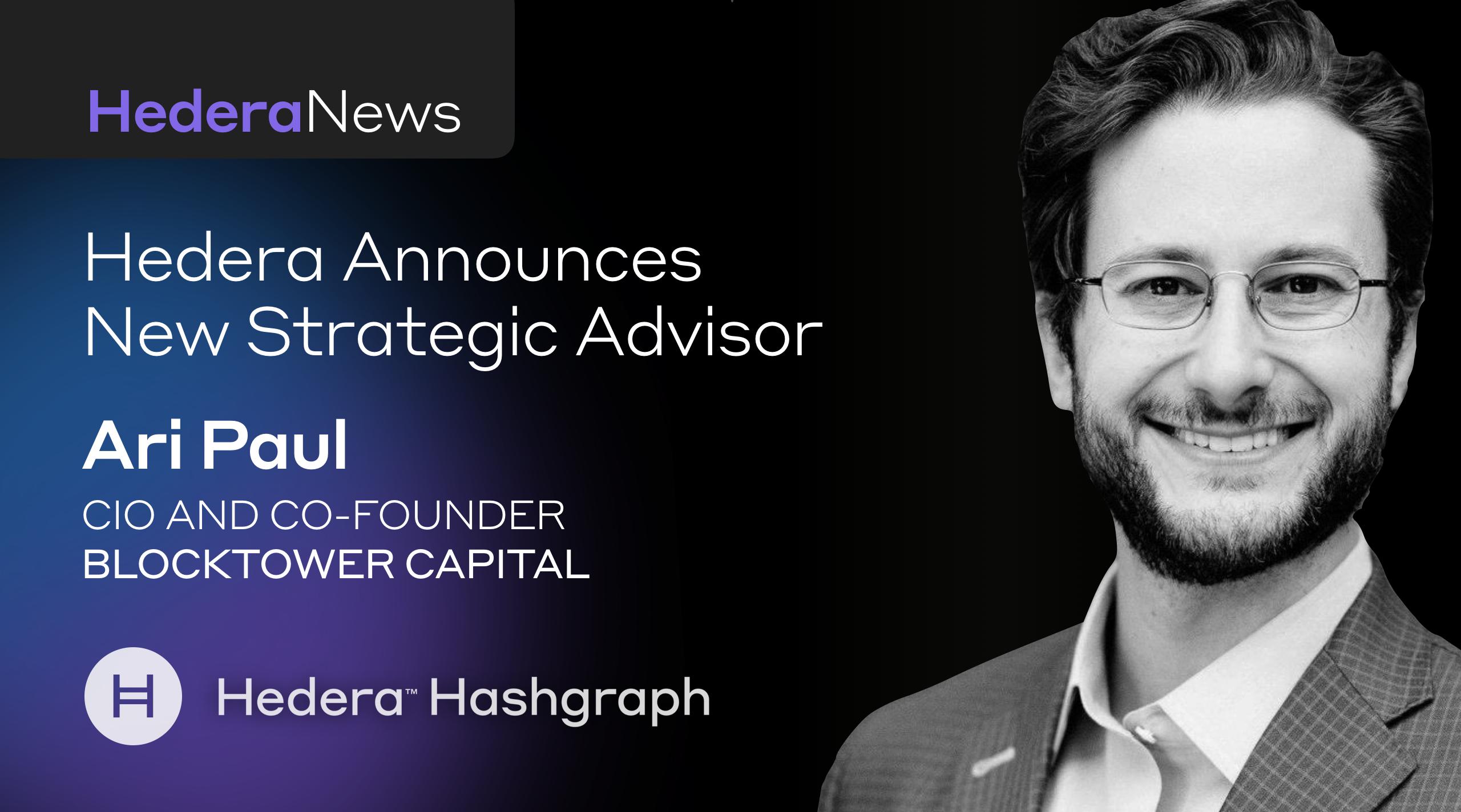 미국 크립토 펀드 '블록타워 캐피털' 창립자, 헤데라 해시그래프 전략 고문에 합류