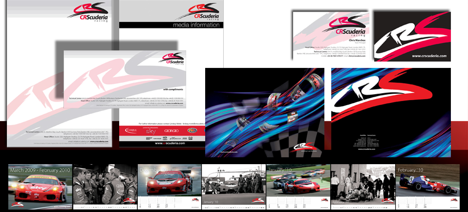 Motor racing business branding solution