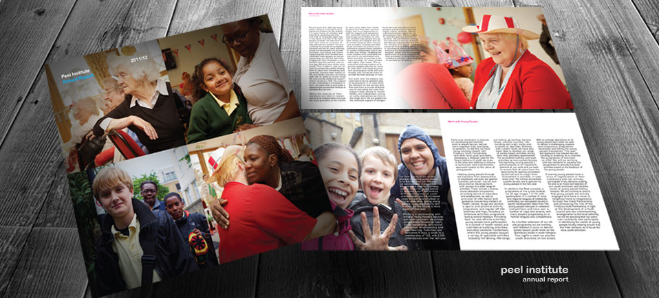 Photography and design for london based charity