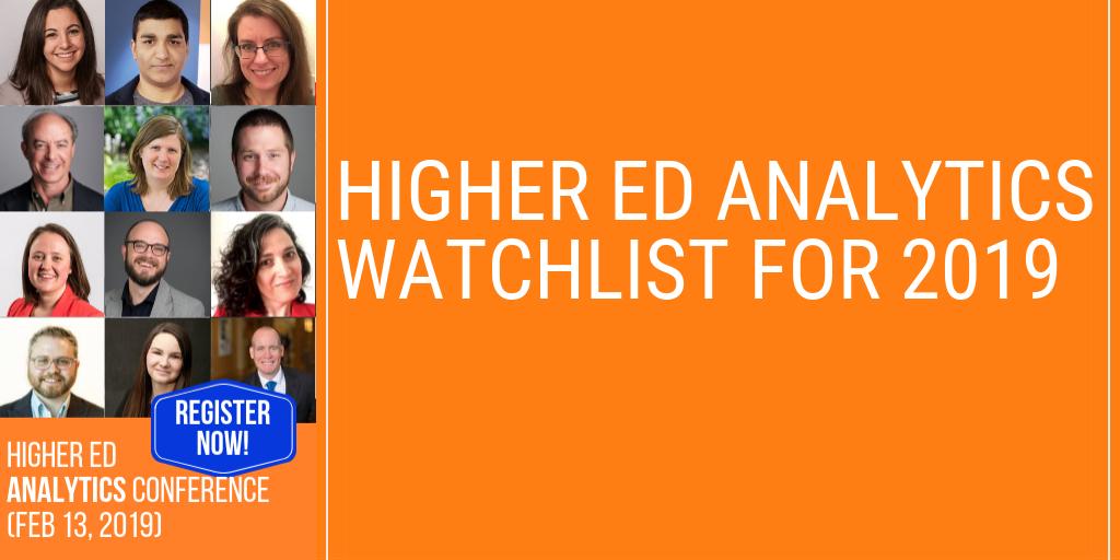Higher Ed Analytics Watchlist for 2019