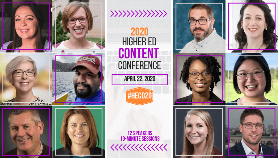 Submit a proposal to the 2020 Higher Ed Content Conference