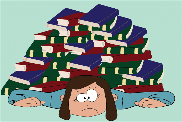 swamped in books