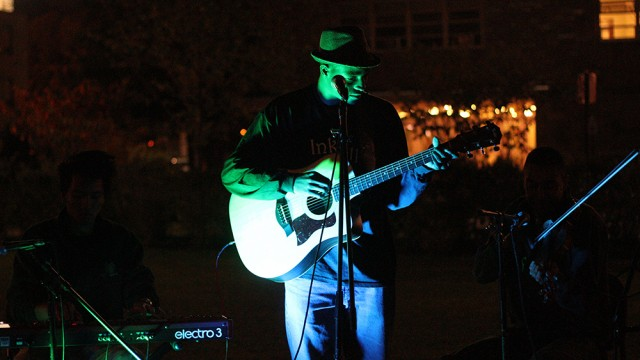 Scenes From The Music Guild's Open Mic In Stokes Amphitheater