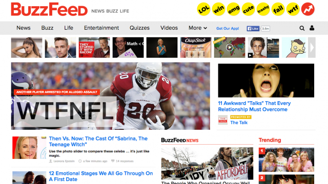 In How We Receive Information, BuzzFeed Reigns