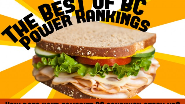 The Definitive, Ignorant BC Sandwich Power Rankings