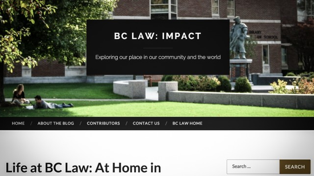 BC Law Launches Editorially Independent 'Impact' Blog