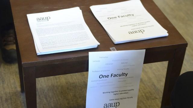 BC Adjunct Professors Gather In Solidarity