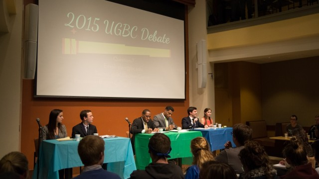 On Eve Of UGBC Elections, Candidates Make Final Arguments At Debate