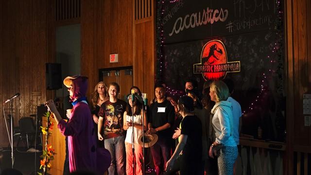 The Acoustics Find Their Inner Dinosaur For 'Jurassic Parkapella'