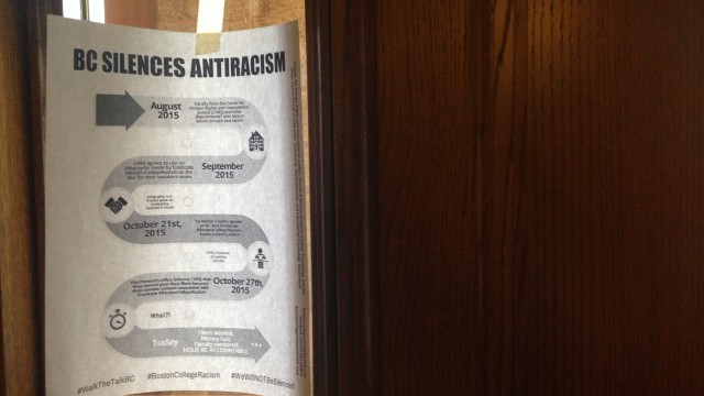'Eradicate BC Racism' Publicizes Provost Office's Rejection Of Poster On Race