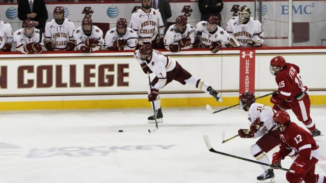 BC Dominates Wisconsin Behind Third Line's Strong Play