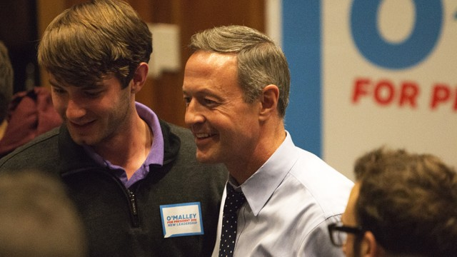 During BC Campaign Stop, Martin O'Malley Fights For Name Recognition