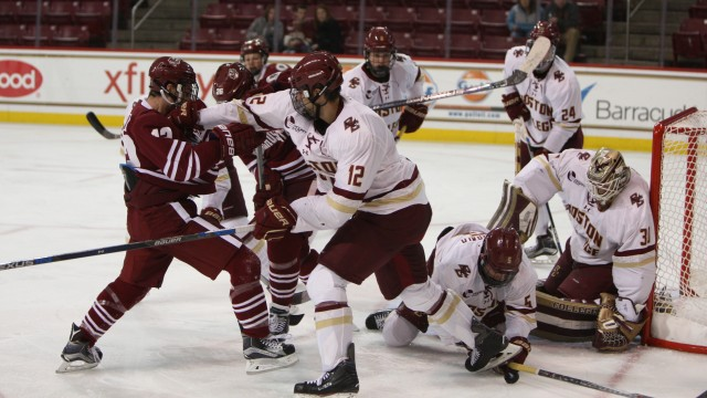 Jeke, Demko Step Up In Fight-Filled Affair Against UMass