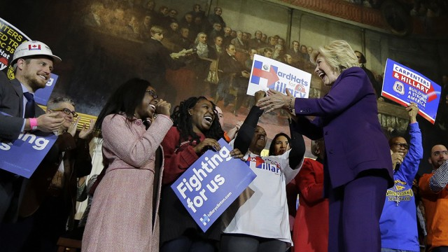 At Faneuil Hall Workers' Rally, Walsh Announces Supports For Hillary Clinton