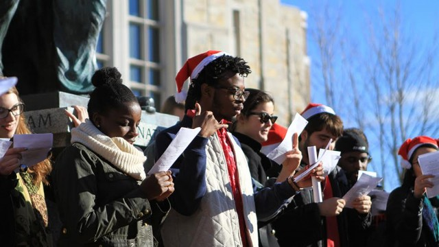 To Raise Awareness Of Racism, Protesters Sing Alternative Christmas Carols