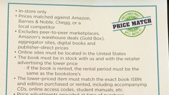 To Match Competitors' Pricing, Bookstore Offers Price Adjustments