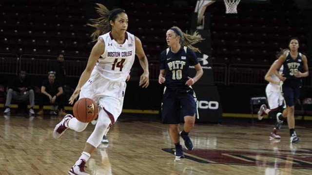 Hughes' Double-Double Helps Eagles to First ACC Win