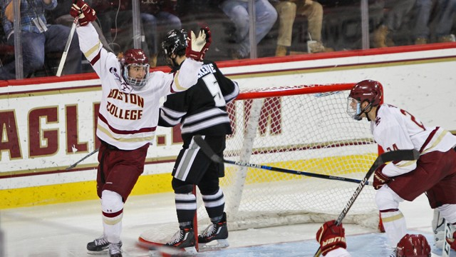 Colin White's Hat Trick Sparks Eagles Against No. 3 Providence