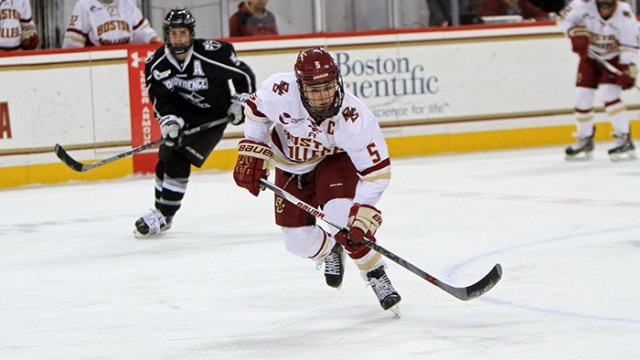 Eagles Become First Team in Hockey East to Complete Regular Season Undefeated