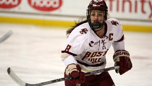 Women's Hockey Clinches Hockey East Title With Win Over Vermont