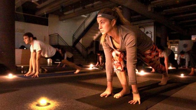 With Candle Yoga, POP Allston Brightens Community