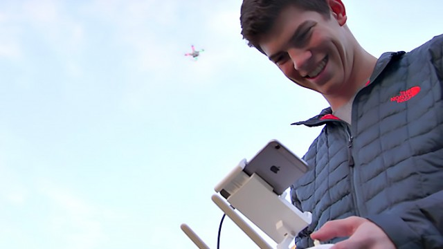 At 19, Freshman Heads Two Companies, Utilizes Drone Tech