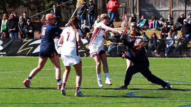 Sarah Mannelly Leads Lacrosse Past Syracuse in Upset Victory